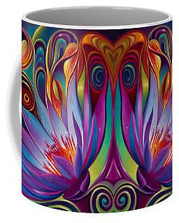 Double Floral Fantasy Coffee Mug