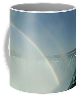 Coffee Mug featuring the photograph Double Rainbow by Brenda Brown