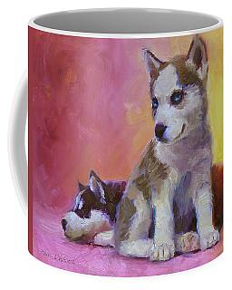 Double Trouble - Alaskan Husky Sled Dog Puppies Coffee Mug