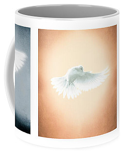 Dove In Flight Triptych Coffee Mug
