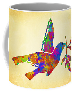 Dove With Olive Branch Coffee Mug
