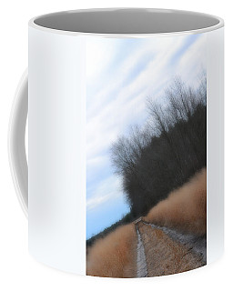 Coffee Mug featuring the photograph Down The Dirt Road by Beth Sawickie