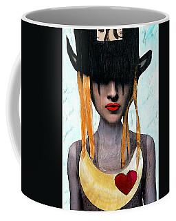 Down The Rabbit Hole - Close Up Mixed Media Art Coffee Mug