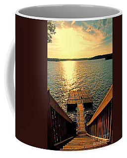 Down To The Fishing Dock - Lake Of The Ozarks Mo Coffee Mug