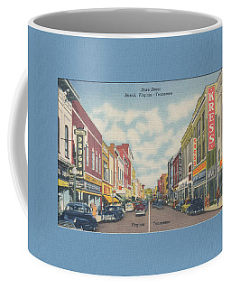 Downtown Bristol Va Tn 1940's Coffee Mug