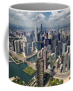 Downtown Chicago Aerial Coffee Mug