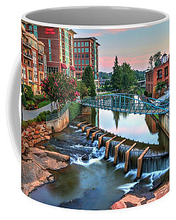 Downtown Greenville On The River Coffee Mug