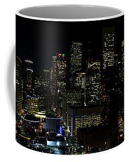 Downtown Houston At Night Coffee Mug