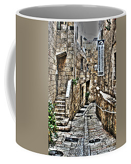 Coffee Mug featuring the photograph Downtown In Jerusalems Old City by Doc Braham