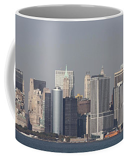 Downtown Manhattan Shot From The Staten Island Ferry Coffee Mug by John Telfer