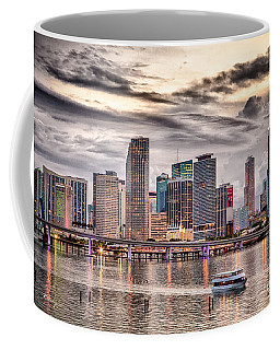 Downtown Miami Skyline In Hdr Coffee Mug