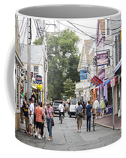Downtown Scene In Provincetown On Cape Cod In Massachusetts Coffee Mug