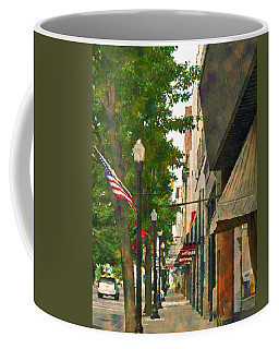 Coffee Mug featuring the photograph Downtown Usa by Denise Beverly
