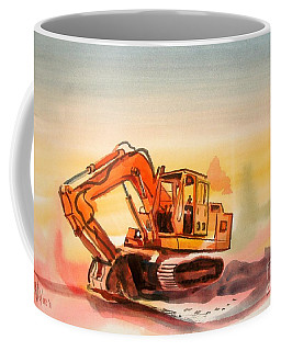 Coffee Mug featuring the painting Dozer In Watercolor  by Kip DeVore