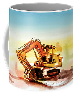 Coffee Mug featuring the painting Dozer October by Kip DeVore