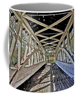 Coffee Mug featuring the photograph Dr. Knisely Covered Bridge by Suzanne Stout