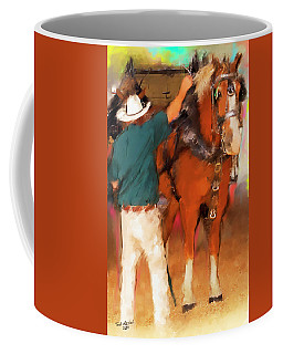 Draft Horse And Trainer Coffee Mug