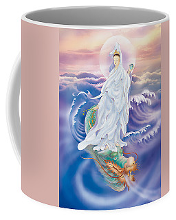 Dragon-riding Avalokitesvara  Coffee Mug by Lanjee Chee
