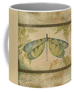 Dragonfly Among The Ferns-1 Coffee Mug by Jean Plout