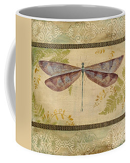 Dragonfly Among The Ferns-3 Coffee Mug by Jean Plout