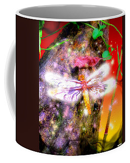 Coffee Mug featuring the digital art Dragonfly by Daniel Janda