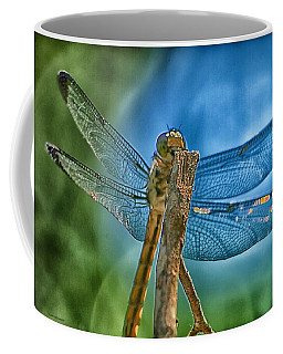 Coffee Mug featuring the photograph Dragonfly by Dennis Baswell