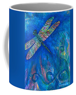 Dragonfly Flying High Coffee Mug by Denise Hoag