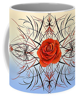 Dragonfly Rose Coffee Mug