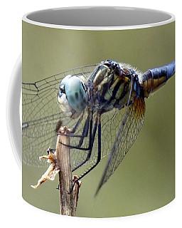 Dragonfly Smile Coffee Mug by Lilliana Mendez