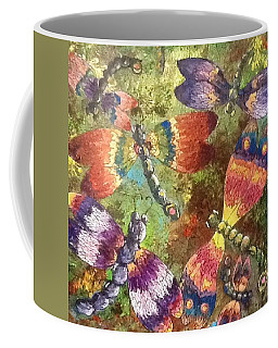 Coffee Mug featuring the painting Dragons 2 by Megan Walsh