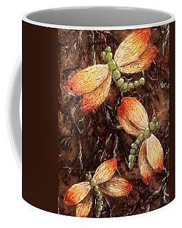 Coffee Mug featuring the painting Dragons 5 by Megan Walsh