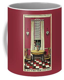 Drawing Of A Breakfast Room Coffee Mug