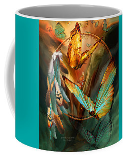 Dream Catcher - Spirit Of The Butterfly Coffee Mug