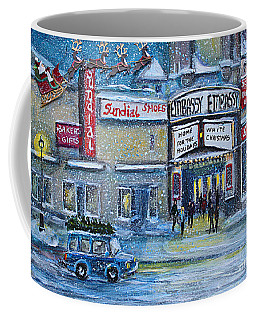 Coffee Mug featuring the painting Dreaming Of A White Christmas by Rita Brown