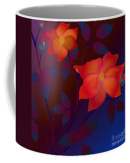 Dreaming Wild Roses Coffee Mug by Latha Gokuldas Panicker