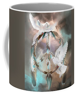 Dreams Of Peace Coffee Mug by Carol Cavalaris