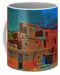 Coffee Mug featuring the mixed media Dreams Of Taos by Michelle Dallocchio