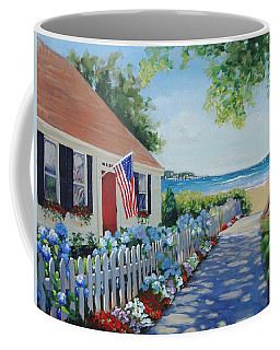 Coffee Mug featuring the painting Dreamscape by Laura Lee Zanghetti
