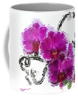 Dreamy Orchids Coffee Mug by Anthony Fishburne