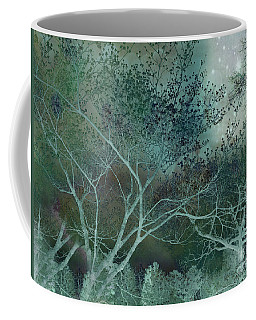 Dreamy Surreal Fantasy Teal Aqua Trees Nature  Coffee Mug