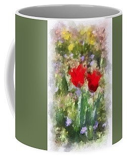 Coffee Mug featuring the painting Dressed In Red  by Kerri Farley
