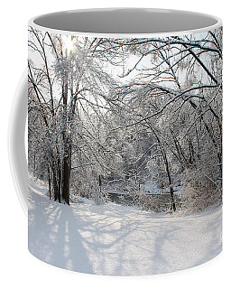 Coffee Mug featuring the photograph Dressed In Snow by Nina Silver