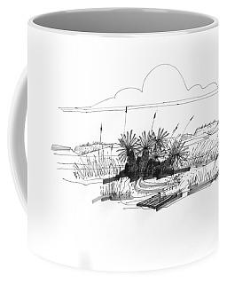 Drift Wood And Yucca Plants Coffee Mug