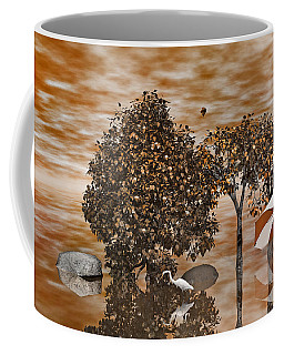 Two Tone Digital Art Coffee Mugs