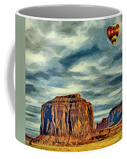 Drifting Over Monument Valley Coffee Mug by Jeff Kolker