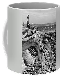 Driftwood On Rocky Beach Coffee Mug