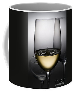 Drops Of Wine In Wine Glasses Coffee Mug