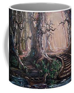 Coffee Mug featuring the painting Druid Walk by Megan Walsh