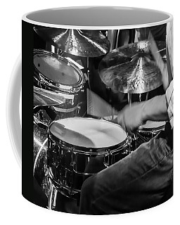Drummer At Work Coffee Mug by Photographic Arts And Design Studio