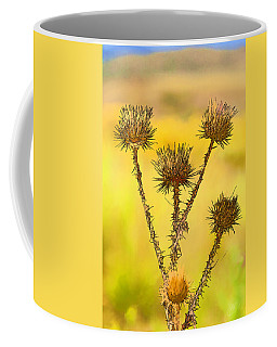 Dry Brown Thistle Coffee Mug